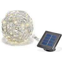 ESOTEC Solar-Kugelleuchte Wireball 25 cm Aluminium 50 LED Warmweiss