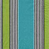 Caspari Riviera blå grøn 3lags Tissue servietter 33x33cm 20stk