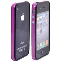Candy Stripes Bumper (Sort - Lilla Kant) iPhone 4S Bumper
