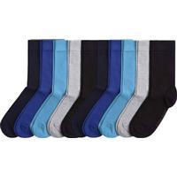 Björn Borg 10-pack Basic Solid Socks - Black/Blue - Strl 41/45 * Kampanj *