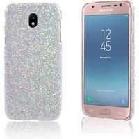 Samsung Galaxy J3 (2017) Robust plastik cover - Glitter søl