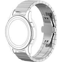 Solid stål rem Samsung gear S3 sølv
