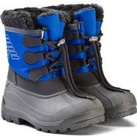 Emporio Armani Blue and Grey Branded Snow Boots Vinterstøvler