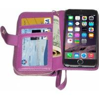 iPhone 6Plus Cover M/Pung og kortholder Lilla