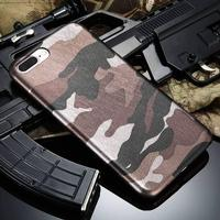 Læder Camouflage iPhone Cover - Grå / For iPhone 5 5S SE