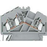 WAGO Gennemgangsklemme 2,5mm² fjederterminal grå 3-leder midterpåskrift til TS 101