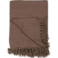 Plaid/tæppe brun