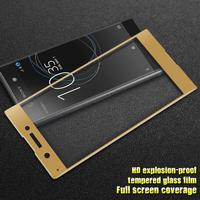 Sony Xperia XA1 IMAK Full-size Hærdet Glas Skærmbeskyttelse - Guld