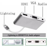 Lightning til HDMI/VGA/AUDIO adapter