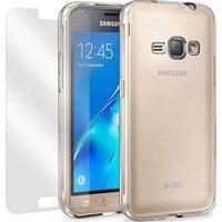 Samsung Galaxy J1 (2016) Moxie Full Beskyttelsessæt - Gennemsigtig