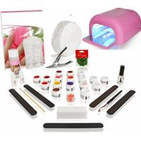 Pink Excellent XXL Start Kit med Syrafri UV gel, inkl lampa