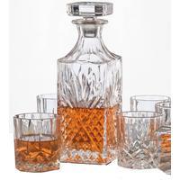 Whiskyset 6 whiskyglas + karaff whiskey