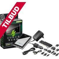 Tecxus - Tecxus - USB PowerBank 10000mAh LiPol m. ladere + stiksort. TILBUD NU