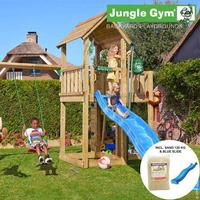 Jungle Gym Mansion Playtower with Swing Module & 2 Swings