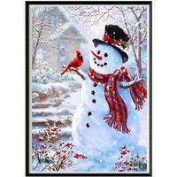 NAIYUE J770 Snowman Print Draw 5D Diamond Painting Diamond Embroidery