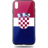 Snyggt iPhone X/XS mobilskal i Kroatiens flagga