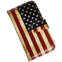 iPhone X Luksusetui i kunstlæder, med USA flag