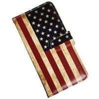 iPhone 8 Plus Luksusetui i kunstlæder med USA flag