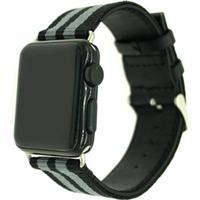 Nylon klockrem för Apple Watch 4 44mm, Serie 3/2/1 42mm Armegrön