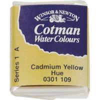 Winsor & Newton Cotman Water Colours Yellow Half Pan