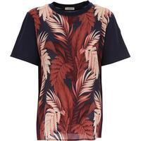 Moncler T-Shirt for Women On Sale, Navy Blue, Cotton, 2017, 10 12