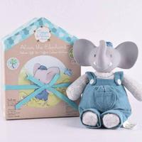 Meiya & Alvin Large Alvin Teddy Bear with Rubber Head & Book 25cm