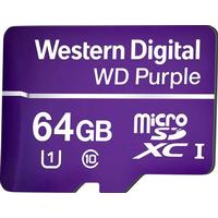 Western Digital WD Purple microSDXC Class 10 UHS-I U1 80/50MB/s 64GB
