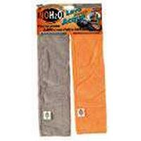 Bottari 00320Microfibre Cloths (Set of 2for Car, Grey/Orange