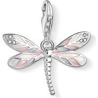 Thomas Sabo Dragonfly Silver Charm Pendant w. White Zirconia (1516-041-9)