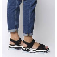 Fornarina Super 20 Sandal BLACK,Schwarz,Weiß,Rot
