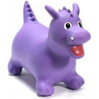 Happy Hopperz Ride On Animal Bouncing Toy - Purple Dino, Purple
