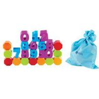 Learning Resources Numbers and Counting Building Blocks, Blue,Green,Purple,Red,Yellow