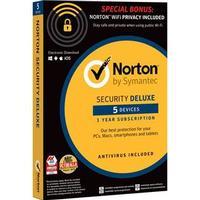 Symantec Norton Security Deluxe + WiFi Privacy för 5 enheter