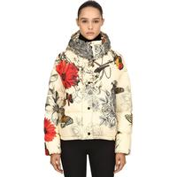 CAILLE PRINTED NYLON DOWN JACKET