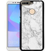 Huawei Y6 (2018) Mobilskal Marmor Vit