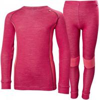 Helly Hansen JR Lifa Merino Skidunderställ - Persian Red (48659-183)