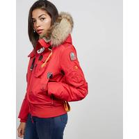 Parajumpers Womens Parajumpers Gobi Short Padded Jacket Red, Red