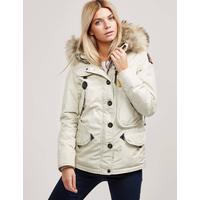 Parajumpers Womens Parajumpers Doris Padded Parka Jacket White, White