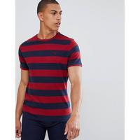 Barbour - Bass - Rödrandig t-shirt