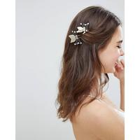 Johnny Loves Rosie Gold Pearl Detail Occasion Hair Clips