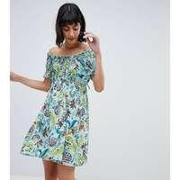 1ae89092fb08 Anna Sui - Exclusive - Babydoll-klänning med ananasmönster
