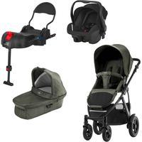 Britax Rejsepakke Smile 2, Duovogn, Olive Denim + Primo Baby Autostol + ISOfix Base