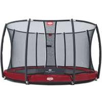 Berg trampolin Elite + InGround inkl. net T-Serie 380 cm rød rød