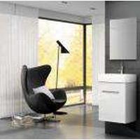 Lita møbelpakke, hvid Komplet pakke med 450 mm underskab, vask og spejl
