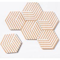Areaware - Table tiles - Optic - Bordskåner - Hvid*