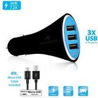 Naztech Turbo T3 Micro USB 7.2A Vehicle Charger