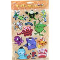 Bubble stickers med sjove figurer
