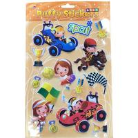 Bubble stickers med sports aktiviteter