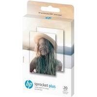 HP ZINK Sticky-Backed - fotopapir - 20 ark - 58 x 87 mm - 258 g/m Hvid
