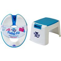 Pourty Flexi Fit Toilet Trainer (white/blue) And Pourty Step Up